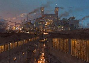 Rating: Safe Score: 177 Tags: building city industrial night original pochi_(poti1990) scenic User: FormX