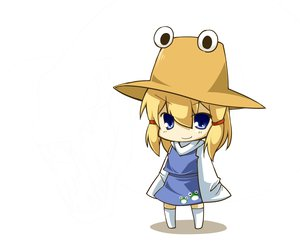 Rating: Safe Score: 29 Tags: blonde_hair blue_eyes chibi haipa_okara hat moriya_suwako thighhighs touhou User: PAIIS
