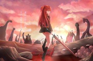 Rating: Safe Score: 56 Tags: blood boots chtholly_nota_seniorious long_hair red_hair shuumatsu_nani_shitemasu_ka? skirt sword tagme_(artist) translation_request uniform weapon User: BattlequeenYume