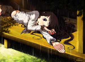 Rating: Safe Score: 183 Tags: brown_hair chitanda_eru cici hyouka purple_eyes rain seifuku User: opai