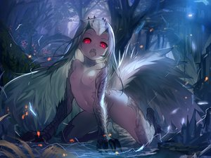 Rating: Questionable Score: 278 Tags: anthropomorphism breasts fang forest fuyouchu horns loli long_hair monster_hunter monster_hunter:_world nipples nude red_eyes tobi-kadachi tree white_hair User: BattlequeenYume