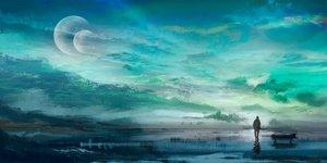 Rating: Safe Score: 161 Tags: alex_(artist) clouds landscape original planet scenic sky User: Flandre93