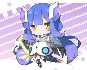Rating: Safe Score: 33 Tags: armor blue_hair boots chibi cropped dress kneehighs long_hair milkpanda phantasy_star_online phantasy_star_online_2 sword weapon yellow_eyes User: otaku_emmy