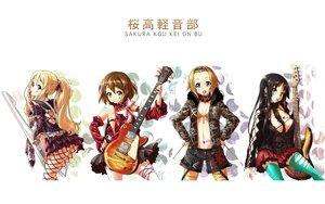 Rating: Questionable Score: 70 Tags: akiyama_mio breasts candy cleavage guitar hirasawa_yui instrument k-on! kotobuki_tsumugi lollipop nekomamire open_shirt tainaka_ritsu thighhighs white User: Oyashiro-sama