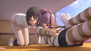 Rating: Explicit Score: 80 Tags: 2girls bondage original pantyhose pussy_juice short_hair tokinohimitsu yuri User: Fepple