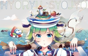 Rating: Safe Score: 127 Tags: blue_eyes goggles green_hair gumi nou short_hair vocaloid water User: Flandre93