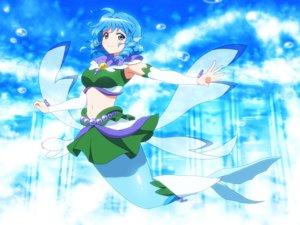Rating: Safe Score: 38 Tags: blue_eyes blue_hair cosplay go!_princess_precure mermaid parody precure shirosato short_hair skirt touhou underwater wakasagihime water User: otaku_emmy