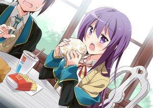 Rating: Safe Score: 41 Tags: drink food gj_bu long_hair male mousou_(mousou_temporary) purple_eyes purple_hair seifuku shinomiya_kyouya sumeragi_shion User: mattiasc02