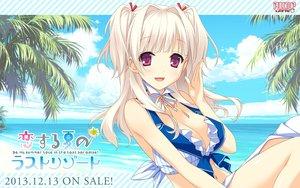 Rating: Safe Score: 175 Tags: beach blonde_hair breasts choker cleavage clouds kitsuki_riho koisuru_natsu_no_last_resort logo long_hair marui navel pulltop waitress water User: Wiresetc
