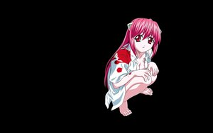 Rating: Safe Score: 28 Tags: barefoot black blood crying elfen_lied lucy_(elfen_lied) pink_eyes pink_hair third-party_edit vector User: ElementK2