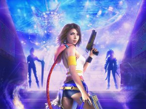 Rating: Safe Score: 74 Tags: bicolored_eyes brown_hair final_fantasy final_fantasy_x final_fantasy_x-2 gun paine realistic rikku short_hair weapon yuna_(ffx) User: tatchan