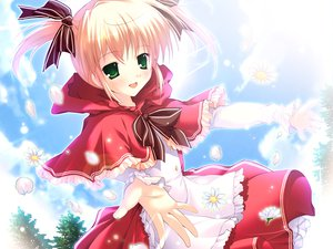 Rating: Safe Score: 10 Tags: dress flowers green_eyes lolita_fashion mikeou pink_chuchu twintails User: Oyashiro-sama