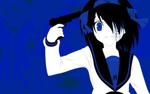 Rating: Safe Score: 23 Tags: blue gun suzumiya_haruhi suzumiya_haruhi_no_yuutsu weapon zono_(rinkara-sou) User: 秀悟