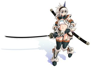 Rating: Safe Score: 170 Tags: armor funamushi_(funa) katana kirin_(armor) monster_hunter sword weapon User: FormX