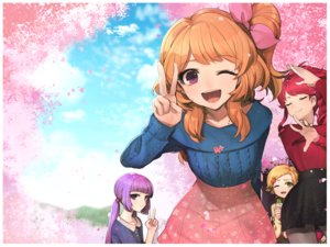 Rating: Safe Score: 36 Tags: aikatsu! cherry_blossoms flowers hikami_sumire hitoto kurebayashi_juri oozora_akari shinjou_hinaki wink User: FormX