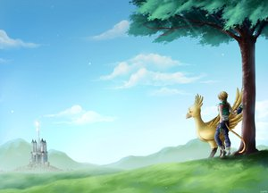 Rating: Safe Score: 38 Tags: blonde_hair chocobo final_fantasy final_fantasy_ix gloves tail zidane_tribal User: LastZephyr
