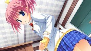 Rating: Safe Score: 97 Tags: blue_eyes game_cg kunihiro_hinata muririn noble_works pink_hair school_uniform skirt yuzusoft User: Wiresetc