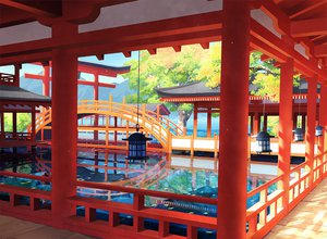 Rating: Safe Score: 133 Tags: 00111 nobody original scenic torii tree water User: opai