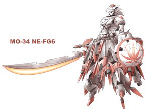 Rating: Safe Score: 77 Tags: inubashiri_momiji mecha nekoguruma sword touhou weapon User: PAIIS