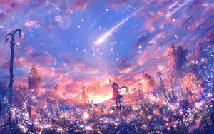 Rating: Safe Score: 31 Tags: bou_nin clouds landscape long_hair original polychromatic ponytail ruins scenic sky User: BattlequeenYume