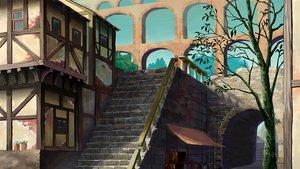 Rating: Safe Score: 24 Tags: building city naohiro original stairs tree User: RyuZU