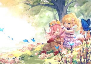 Rating: Safe Score: 19 Tags: blonde_hair blue_eyes butterfly dress elbow_gloves final_fantasy final_fantasy_xiv flowers fy_fei_xiao_ya gloves hat pink_eyes pink_hair pointed_ears tree User: Maboroshi
