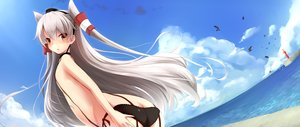 Rating: Questionable Score: 107 Tags: amatsukaze_(kancolle) anthropomorphism blush choker clouds flat_chest gray_hair kantai_collection long_hair mitsukii panties twintails underwear yellow_eyes User: FormX