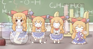 Rating: Safe Score: 56 Tags: chibi drink horns ibuki_suika south114 touhou User: Dust