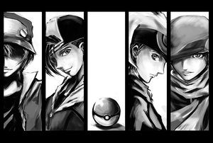 Rating: Safe Score: 30 Tags: hat hibiki kouki_(pokemon) monochrome pokemon red_(pokemon) scarf shadow_cat yuki_(pokemon) User: PAIIS