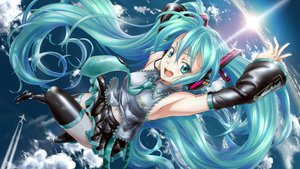 Rating: Safe Score: 107 Tags: aqua_eyes aqua_hair hatsune_miku headphones twintails vocaloid zoneflower User: gnarf1975