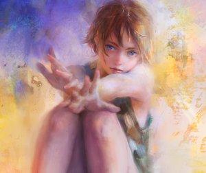 Rating: Safe Score: 96 Tags: blue_eyes brown_hair cropped nababa no_bra original short_hair User: luckyluna