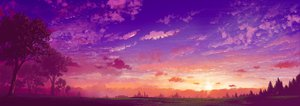 Rating: Safe Score: 243 Tags: 108 clouds dualscreen landscape nobody original purple scenic sky sunset tree User: opai