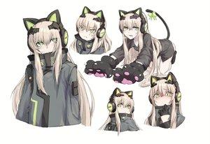 Rating: Safe Score: 36 Tags: alma01 animal_ears anthropomorphism bow catgirl girls_frontline gloves green_eyes headphones long_hair sketch tail tmp_(girls_frontline) white_hair User: BattlequeenYume