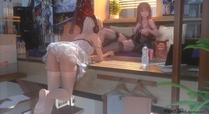 Rating: Questionable Score: 180 Tags: 2girls 3d ass brown_hair coca_cola computer cropped dress drink guitar headphones instrument long_hair original panties stairs stockings swd3e2 thighhighs underwear watermark white_hair User: BattlequeenYume