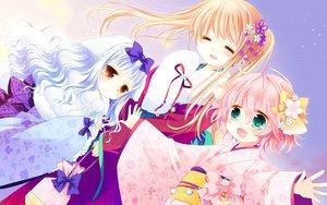 Rating: Safe Score: 107 Tags: cuffs_(studio) japanese_clothes kimono lily_(w&l) sakurazawa_izumi touko wanko wanko_to_lily User: opai