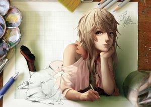 Rating: Safe Score: 184 Tags: blonde_hair gray_eyes lepus long_hair original signed User: Flandre93