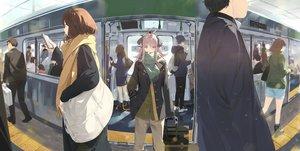 Rating: Safe Score: 55 Tags: horns long_hair original short_hair somehira_katsu train User: Dreista