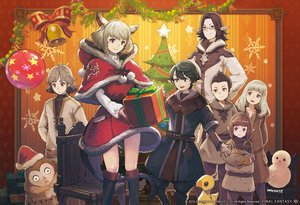 Rating: Safe Score: 52 Tags: animal bell black_eyes black_hair blonde_hair brown_eyes brown_hair catgirl chocobo christmas elezen final_fantasy_xiv glasses hat hyur jpeg_artifacts lalafell long_hair male miqo'te pointed_ears purple_eyes santa_hat short_hair tagme_(artist) tail User: SciFi