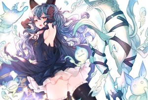 Rating: Questionable Score: 86 Tags: animal_ears ass blue_hair boots breasts brown_eyes dress elbow_gloves ferri_(granblue_fantasy) gloves granblue_fantasy long_hair magic nopan sideboob sweetroad thighhighs User: RyuZU
