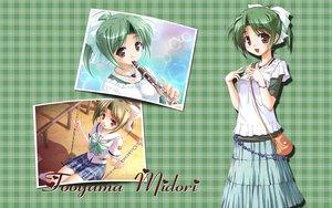 Rating: Safe Score: 20 Tags: green_hair instrument seifuku touyama_midori yoake_mae_yori_ruri_iro_na User: w7382001