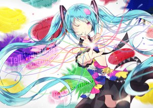 Rating: Safe Score: 89 Tags: domotolain hatsune_miku tell_your_world_(vocaloid) vocaloid wink User: FormX