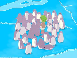 Rating: Safe Score: 9 Tags: animal bird koiwai_yotsuba penguin yotsubato! User: Oyashiro-sama