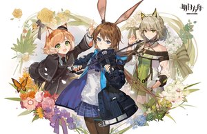 Rating: Safe Score: 46 Tags: amiya_(arknights) animal_ears arknights blue_eyes brown_hair bunny_ears catgirl ciloranko flowers gray_eyes green_hair instrument kal'tsit_(arknights) logo long_hair mousse_(arknights) orange_hair pantyhose ponytail short_hair violin User: Nepcoheart