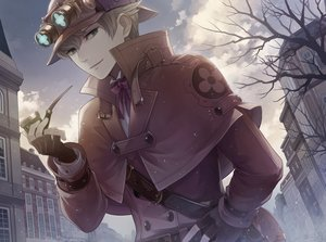 Rating: Safe Score: 41 Tags: all_male blonde_hair building cape city clouds dai_gyakuten_saiban gloves goggles green_eyes gyakuten_saiban hat male sherlock_holmes_(dai_gyakuten_saiban) short_hair sky tagme_(artist) tree waifu2x User: otaku_emmy