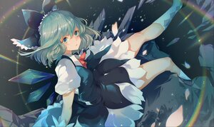 Rating: Safe Score: 51 Tags: azusa0v0 blue_eyes blue_hair cirno dress fairy rainbow touhou wings User: SirArgus