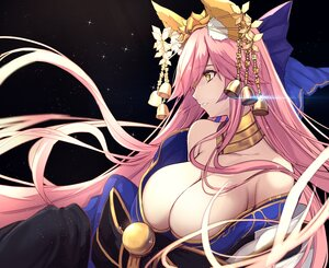 Rating: Safe Score: 45 Tags: animal_ears bell breasts cleavage close fate/grand_order fate_(series) foxgirl japanese_clothes long_hair no_bra pink_hair tamamo_no_mae_(fate) untue yellow_eyes User: BattlequeenYume