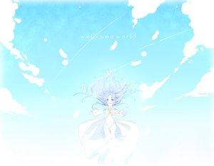 Rating: Safe Score: 54 Tags: blue_hair green_eyes index long_hair nun sky to_aru_majutsu_no_index User: kurofafi