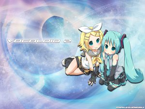 Rating: Safe Score: 26 Tags: hatsune_miku kagamine_rin vocaloid User: AiKiren
