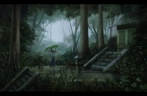 Rating: Safe Score: 87 Tags: aqua_hair building cirno dress fairy forest grass hat leaves rain sasajqazwsx scenic signed touhou tree water wings User: FormX