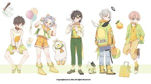 Rating: Safe Score: 18 Tags: all_male animal animal_ears bear bicolored_eyes black_hair blue_eyes blue_hair book boots brown_hair cat cat_smile choker fang gray_hair halo hat kneehighs male mia0309 necklace original red_eyes school_uniform see_through shirt short_hair shorts socks waifu2x watermark wings wristwear yellow_eyes User: otaku_emmy